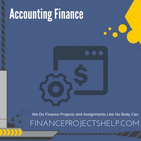Accounting Finance Homework Help