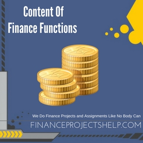 Content Of Finance Functions project Help