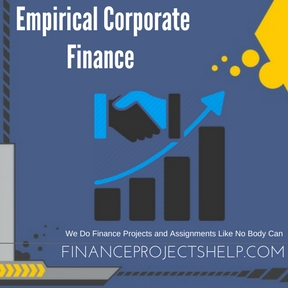 Empirical Corporate Finance Assignment Help