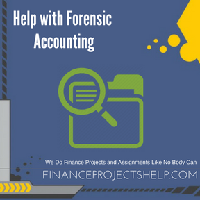 Help with Forensic Accounting Project Help