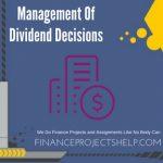 Management Of Dividend Decisions