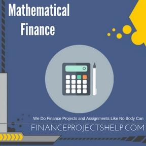 Mathematical Finance Assignment Help