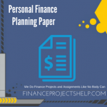 Personal Finance Planning Paper