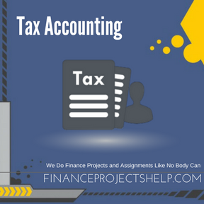 Tax Accounting Project Help
