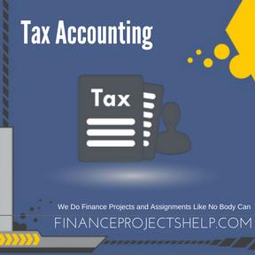 Tax accounting homework help
